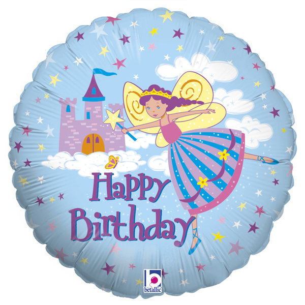 "Folienballon Rund ""Happy Birthday"" Fee"