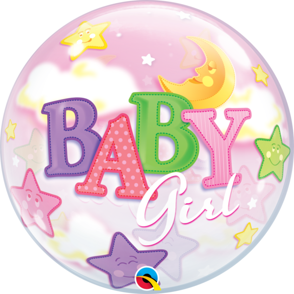 "Bubbles Folienballon ""Baby Girl"""