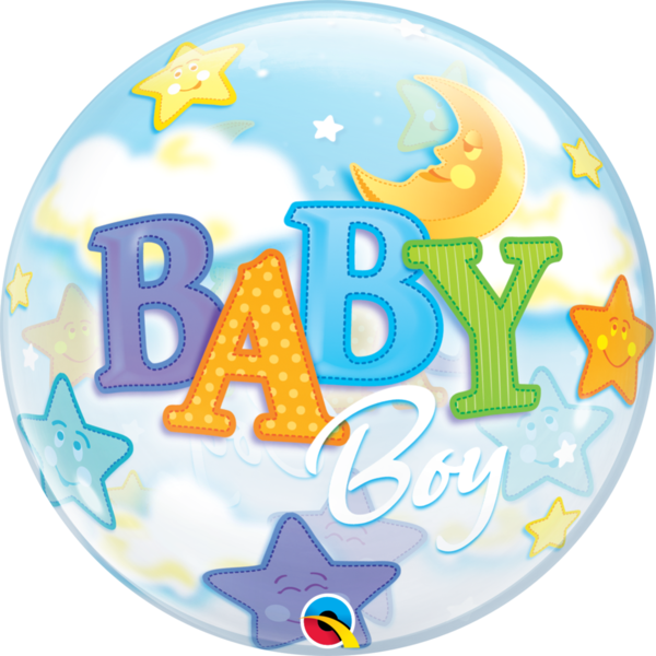 "Bubbles Folienballon ""Baby Boy"""