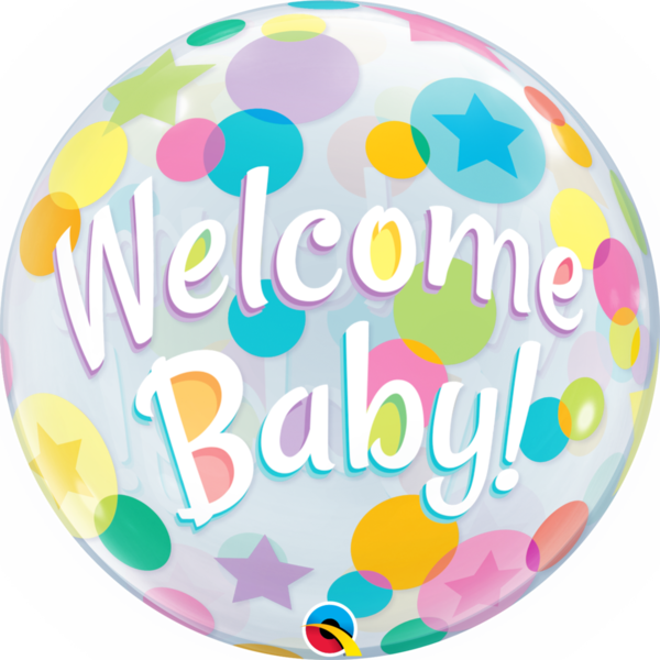 "Bubbles Folienballon ""Welcome Baby"""