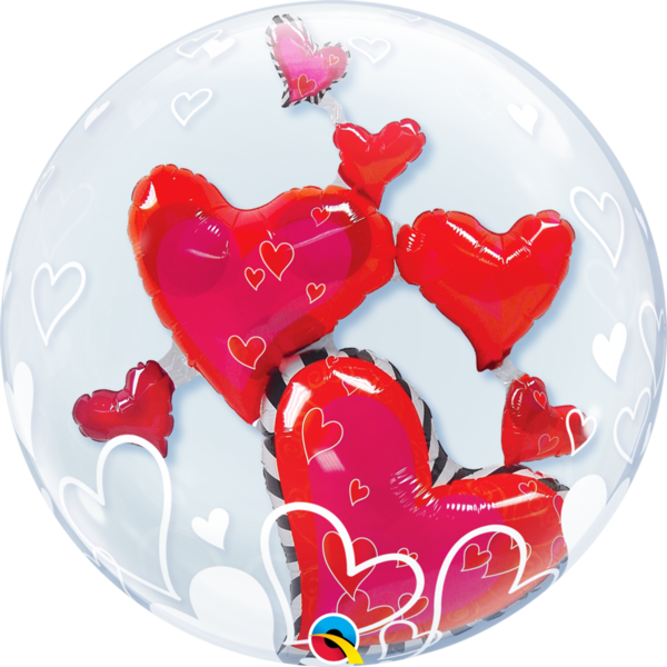 "Double Bubble Folienballon ""Love"""