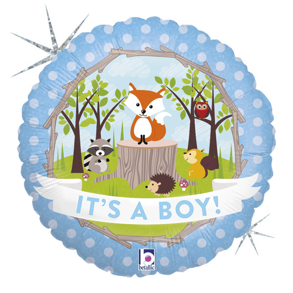 "Folienballon Rund ""It's A Boy!"""